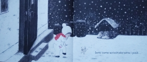 Bambina uscita sulla neve