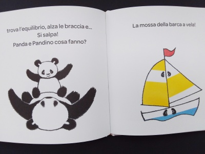 Panda Pandino barca a vela